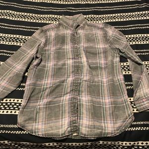 Tops - American Eagle Plaid Button Down